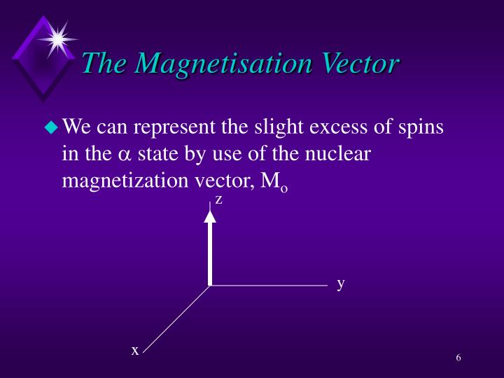 The Magnetisation Vector
