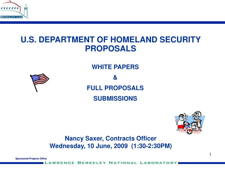 u s department of homeland security proposals n.