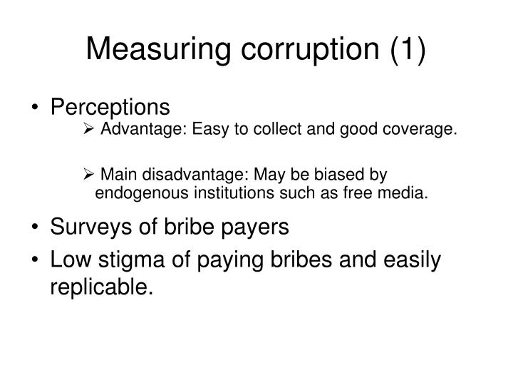 Measuring corruption (1)