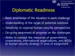 diplomatic readiness