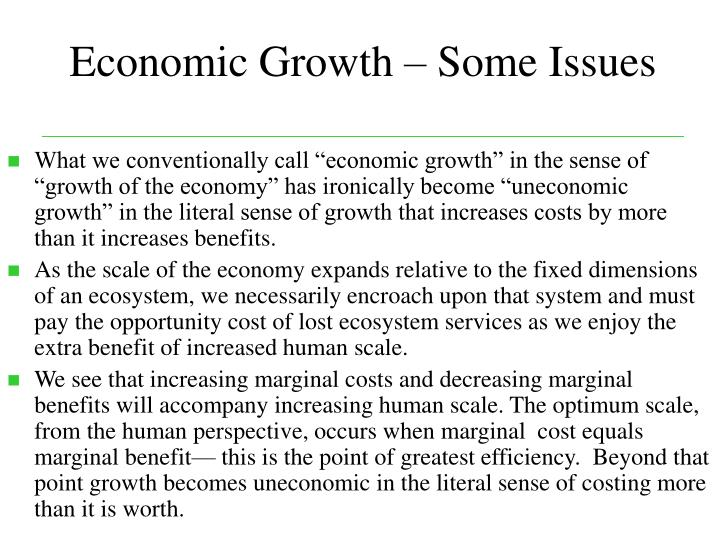 Economic Growth – Some Issues