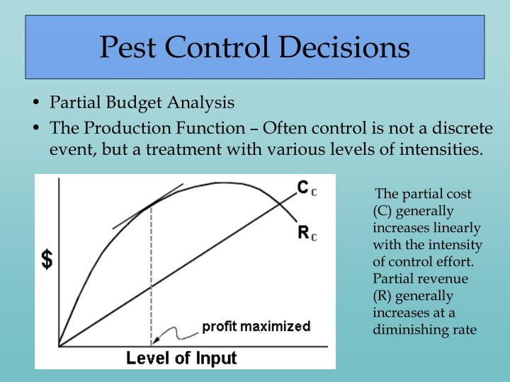 Pest Control Decisions