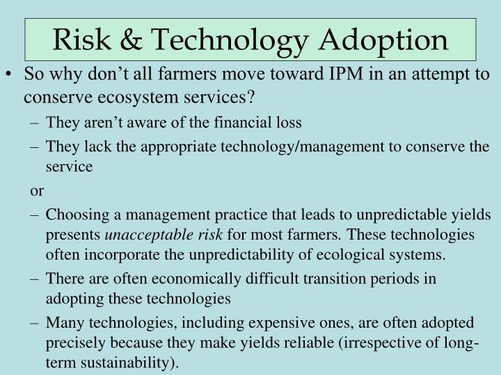 Risk & Technology Adoption