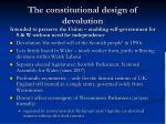 the constitutional design of devolution