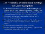 the territorial constitution making the united kingdom