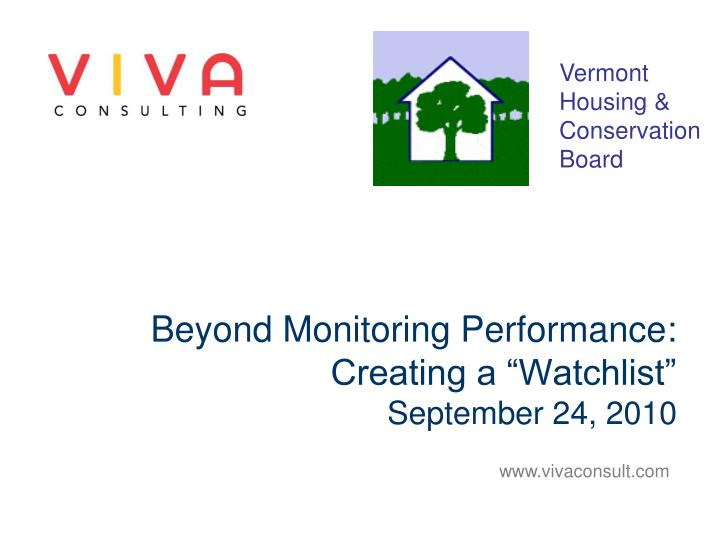 beyond monitoring performance creating a watchlist september 24 2010 n.