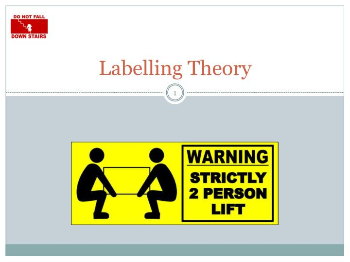 labelling essay Labeling theory is a sociological approach to explaining how criminal behavior is perpetuated by the police and others this theory looked at how labels applied to individuals influenced their behavior particular negative labels (such as criminal or felon) promote deviant behavior (online.