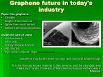 graphene future in today s industry