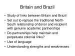 britain and brazil