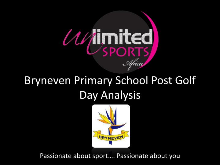 bryneven primary school post golf day analysis n.