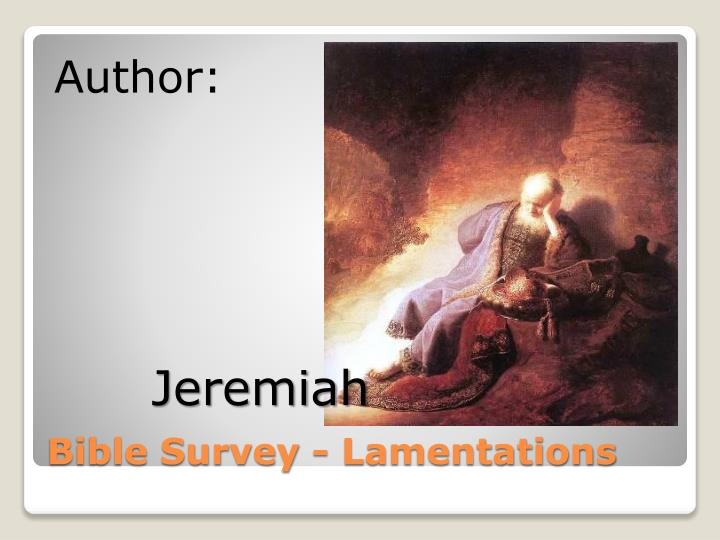 Bible survey lamentations1