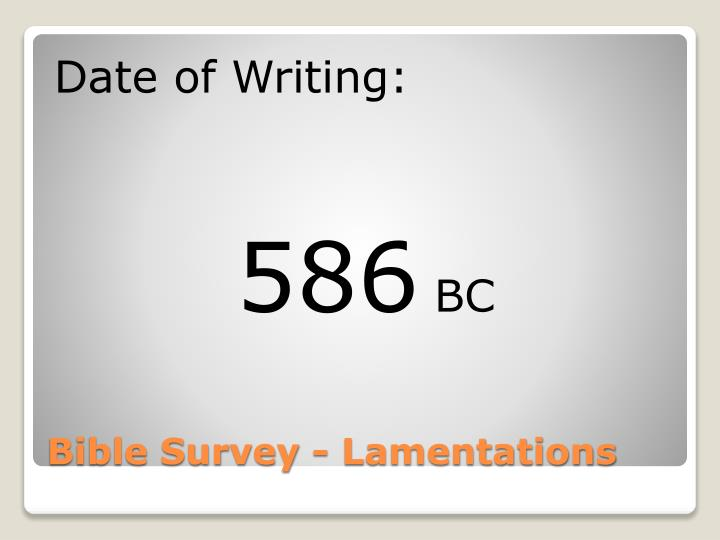 Date of Writing: