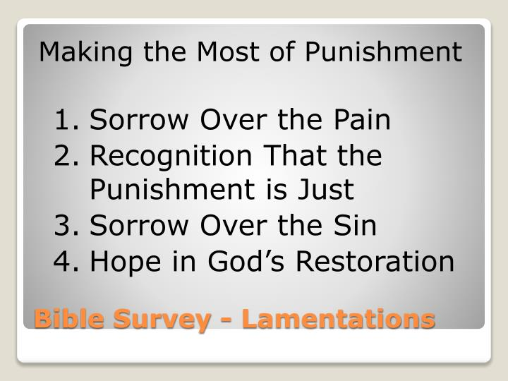 Making the Most of Punishment
