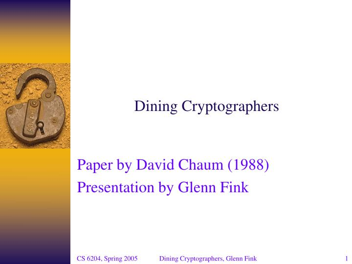 dining cryptographers n.
