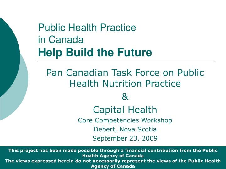 public health practice in canada help build the future n.