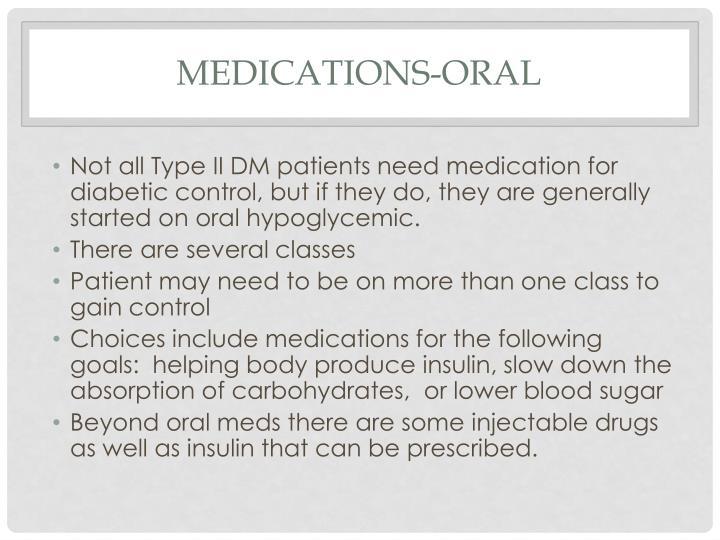 Medications-oral