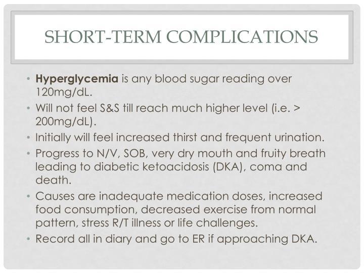 Short-term complications