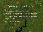 special purpose districts