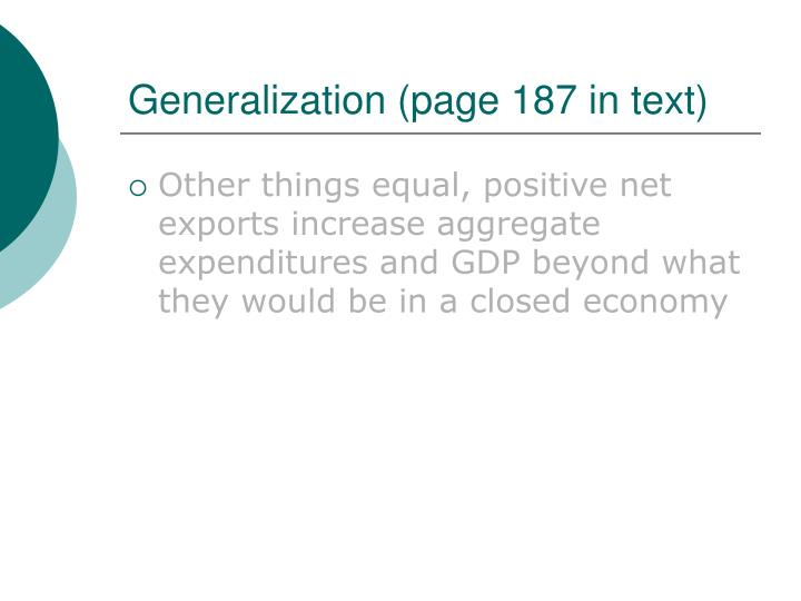 Generalization (page 187 in text)