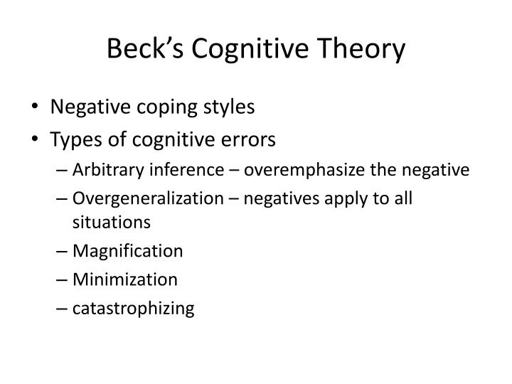 Beck's Cognitive Theory