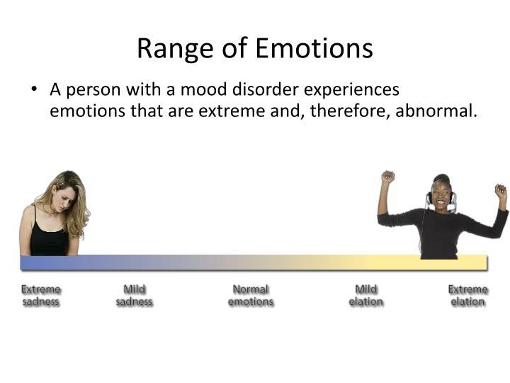 Range of emotions