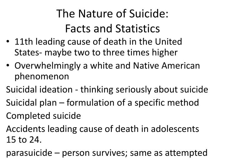 The Nature of Suicide: