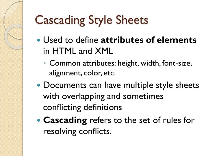 Cascading style sheets