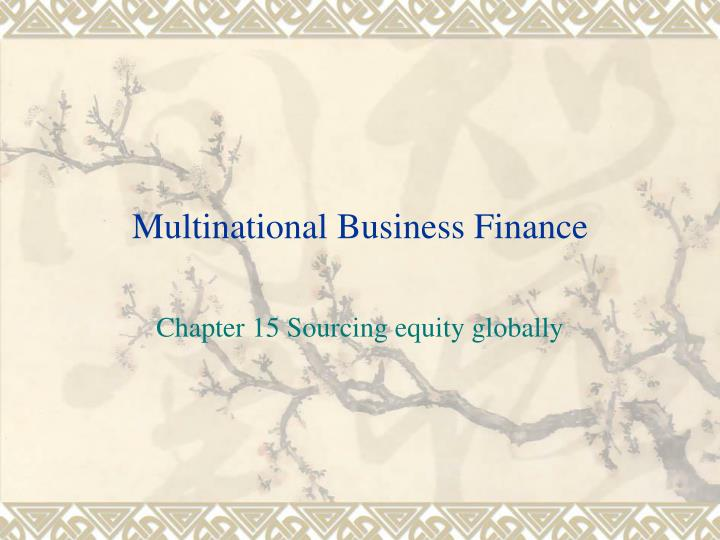 multinational business finance n.