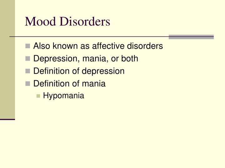 mood disorder an umbrella term to a host of disorders Anxiety disorder is an umbrella term for a number of closely related, yet distinct, conditions general anxiety disorder (gad) patients experience general anxiety regarding everyday life for which they often cannot pinpoint a rational cause [1.