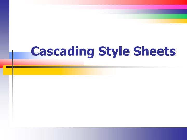 cascading style sheets n.