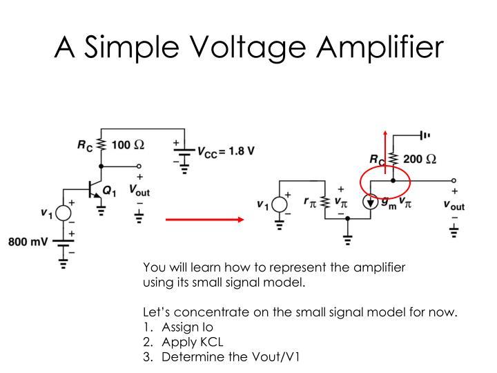 A Simple Voltage Amplifier