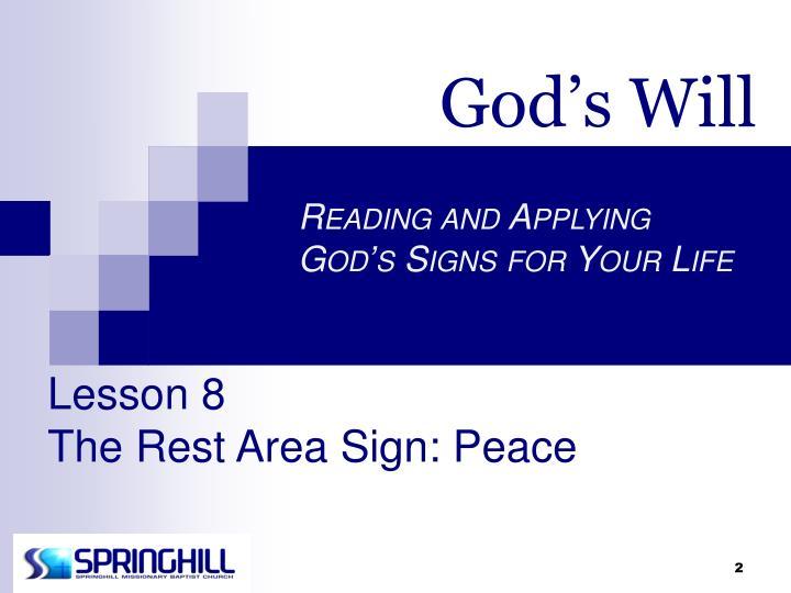 God s will