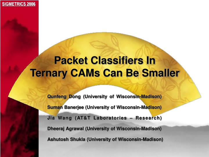 Packet classifiers in ternary cams can be smaller