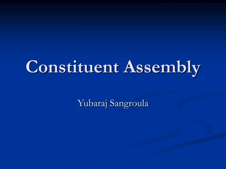 constituent assembly n.