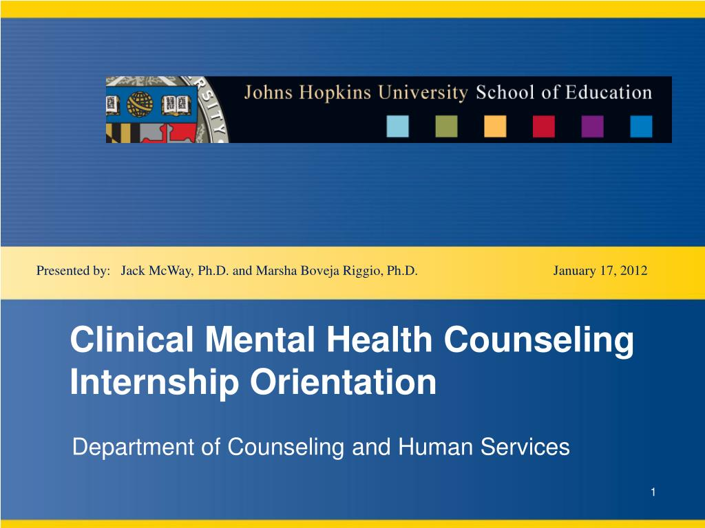 Ppt Clinical Mental Health Counseling Internship Orientation