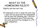 what is the homework policy