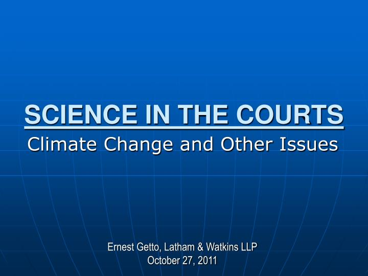 legal issues in climate change Forests and climate change  60 integrating climate change issues into forest policy, legal and institutional frameworks: needs, issues and options.