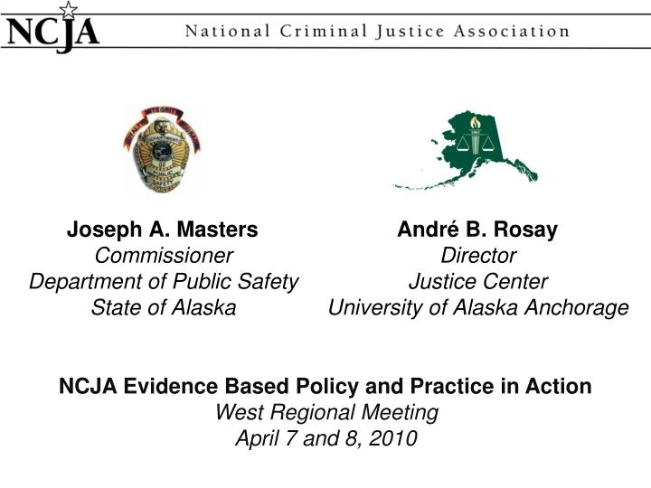 joseph a masters commissioner department of public safety state of alaska n.