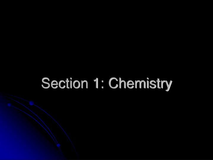 section 1 chemistry n.