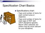 specification chart basics