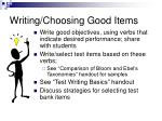 writing choosing good items
