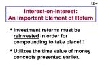 interest on interest an important element of return