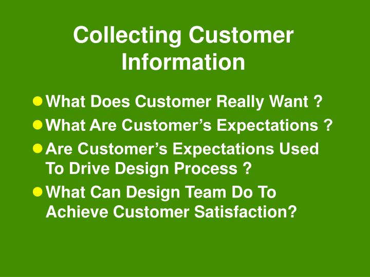 Collecting Customer