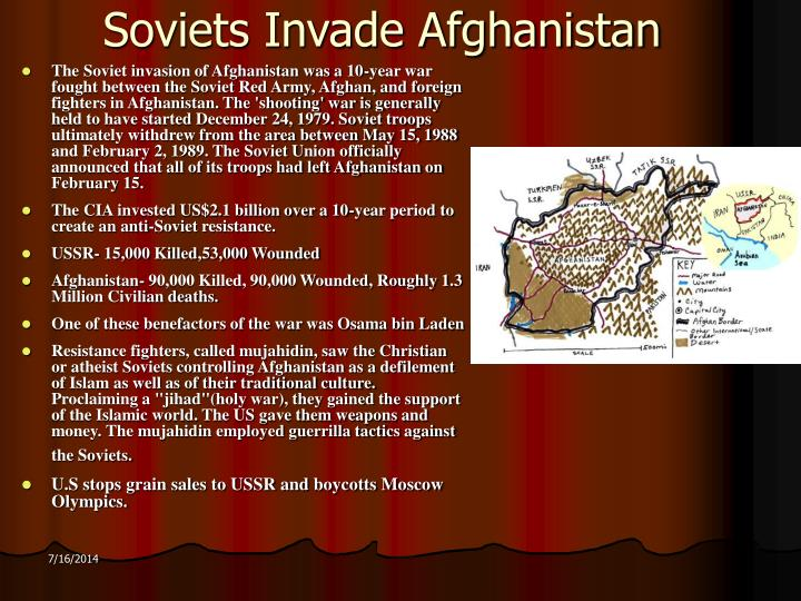 Soviets Invade Afghanistan