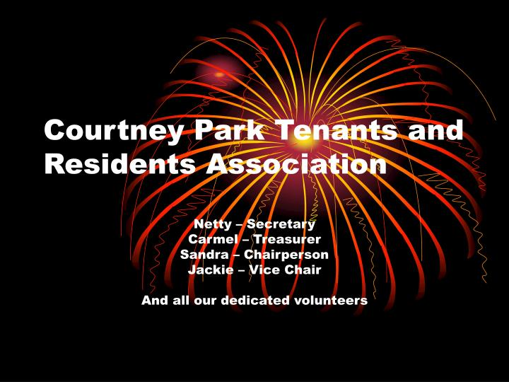 courtney park tenants and residents association n.