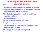 109 security for good behaviour from suspected persons