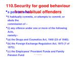 110 security for good behaviour from habitual offenders2