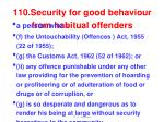 110 security for good behaviour from habitual offenders3