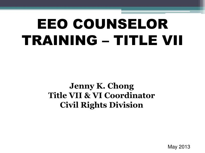 eeo counselor training title vii n.