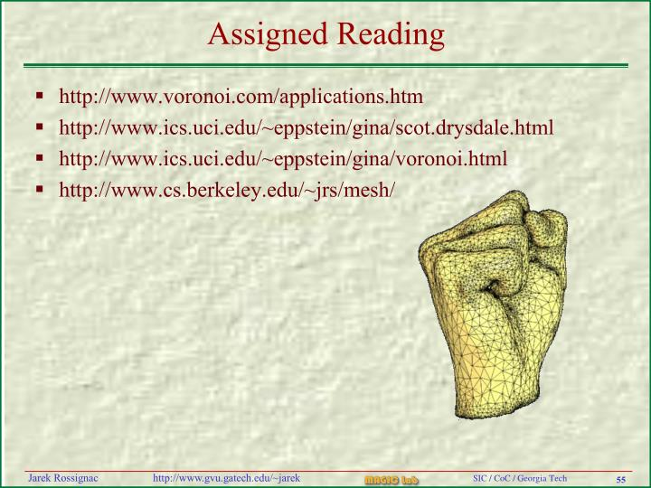 Assigned Reading